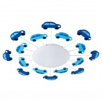 EGLO 92146 | Viki-1 Eglo zidna, stropne svjetiljke svjetiljka 1x E27 plavo, bijelo
