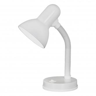 EGLO 9229 | Basic Eglo stolna svjetiljka 30cm s prekidačem fleksibilna 1x E27 bijelo
