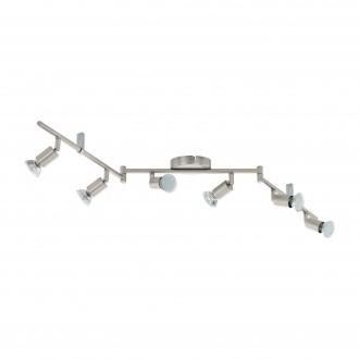 EGLO 92599   Buzz_LED Eglo zidna, stropne svjetiljke svjetiljka elementi koji se mogu okretati 6x GU10 1440lm 3000K poniklano mat