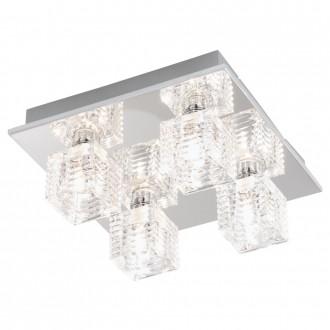 EGLO 92656 | Quarto-1 Eglo stropne svjetiljke svjetiljka 4x G9 krom, prozirna