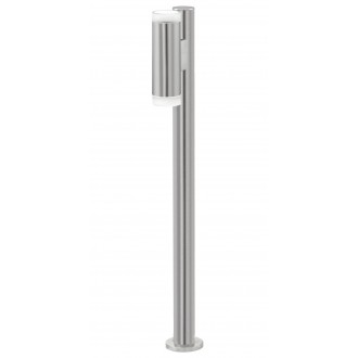 EGLO 92738 | RigaLED Eglo podna svjetiljka 80,5cm 2x GU10 400lm 4000K IP44 plemeniti čelik, čelik sivo