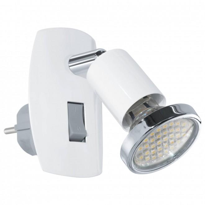 EGLO 92925 | Mini-4 Eglo utična svjetiljka svjetiljka s prekidačem 1x GU10 240lm 3000K bijelo, krom