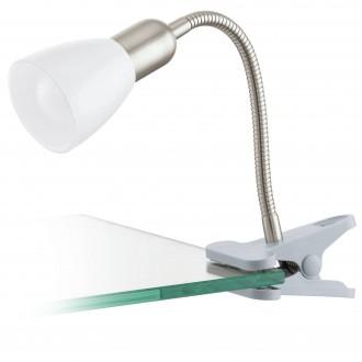EGLO 92932 | Dakar-3 Eglo svjetiljke sa štipaljkama svjetiljka sa prekidačem na kablu 1x E14 320lm 3000K srebrno, krom, bijelo