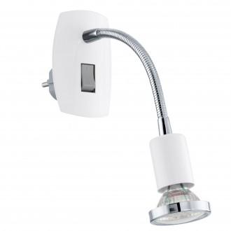EGLO 92934 | Mini-4 Eglo utična svjetiljka svjetiljka s prekidačem 1x GU10 240lm 3000K bijelo, krom