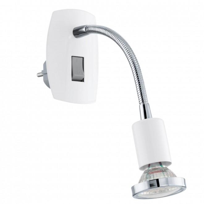 EGLO 92934   Mini-4 Eglo utična svjetiljka svjetiljka s prekidačem 1x GU10 240lm 3000K bijelo, krom