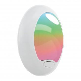 EGLO 92964 | Tineo Eglo utična svjetiljka svjetiljka s prekidačem 1x LED bijelo, srebrno