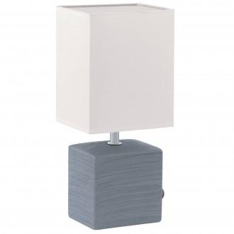 EGLO 93044 | Mataro Eglo stolna svjetiljka 30cm sa prekidačem na kablu 1x E14 sivo, bijelo