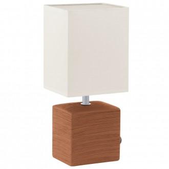 EGLO 93045 | Mataro Eglo stolna svjetiljka 30cm sa prekidačem na kablu 1x E14 smeđe, bijelo