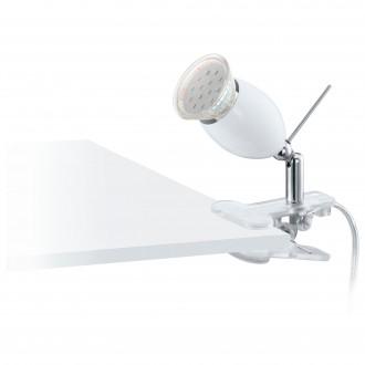 EGLO 93118 | Banny-1 Eglo svjetiljke sa štipaljkama svjetiljka sa prekidačem na kablu 1x GU10 240lm 3000K srebrno, krom, bijelo