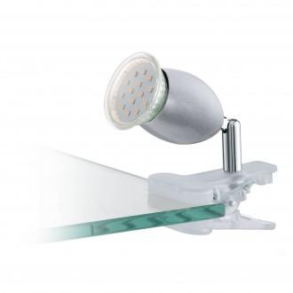 EGLO 93119 | Banny-1 Eglo svjetiljke sa štipaljkama svjetiljka sa prekidačem na kablu 1x GU10 240lm 3000K srebrno, krom, bijelo
