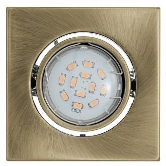 EGLO 93244 | Igoa Eglo ugradbena svjetiljka pomjerljivo 95x95mm 1x GU10 400lm 3000K bronca