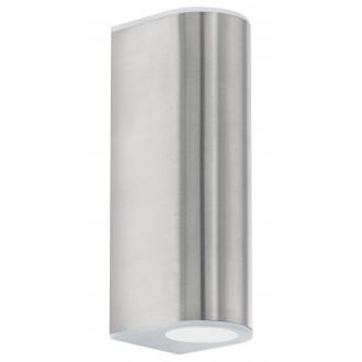 EGLO 93271 | Cabos Eglo zidna svjetiljka 2x LED 360lm 3000K IP44 plemeniti čelik, čelik sivo