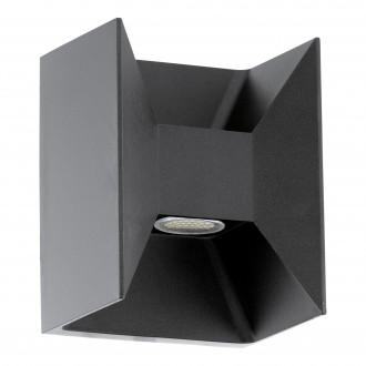EGLO 93319 | Morino4 Eglo zidna svjetiljka 2x LED 360lm 3000K IP44 antracit