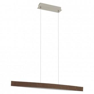 EGLO 93343 | Fornes Eglo visilice svjetiljka 1x LED 1800lm 3000K boja oraha, bijelo
