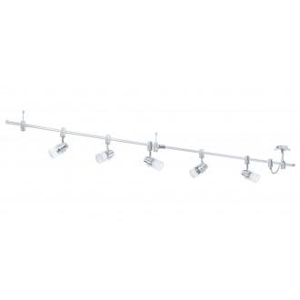 EGLO 93358 | Vilanova Eglo sustav svjetiljka elementi koji se mogu okretati 5x GU10 2000lm 3000K aluminij, krom, bijelo