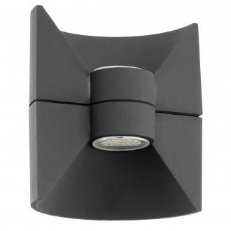 EGLO 93368 | Redondo Eglo zidna svjetiljka 2x LED 360lm 3000K IP44 antracit