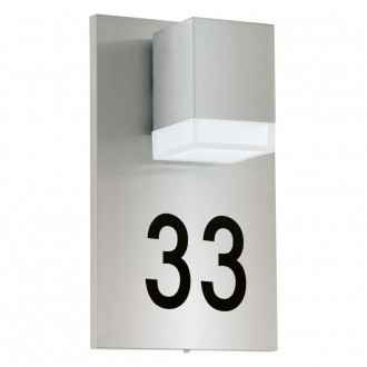 EGLO 93369 | Pardela_1 Eglo zidna svjetiljka 1x LED 160lm 3000K IP44 plemeniti čelik, čelik sivo