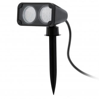 EGLO 93385 | Nema-1 Eglo ubodne svjetiljke svjetiljka vilasti utikač - bez utikača elementi koji se mogu okretati 2x GU10 480lm 3000K IP44 crno, prozirna