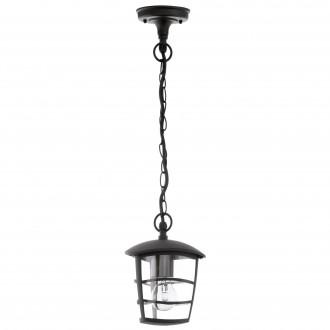 EGLO 93406 | Aloria Eglo visilice svjetiljka 1x E27 IP44 crno, prozirna