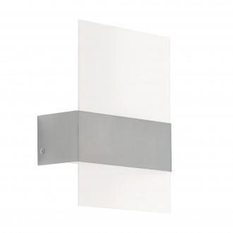 EGLO 93438 | Nadela Eglo zidna svjetiljka 2x LED 360lm 3000K IP44 plemeniti čelik, čelik sivo, bijelo