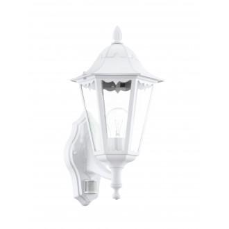 EGLO 93447 | Navedo Eglo zidna svjetiljka sa senzorom 1x E27 IP44 bijelo, prozirno