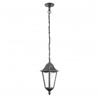EGLO 93455 | Navedo Eglo visilice svjetiljka 1x E27 IP44 crno, antik srebrna, prozirna