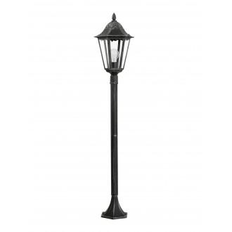 EGLO 93463 | Navedo Eglo podna svjetiljka 120cm 1x E27 IP44 crno, antik srebrna, prozirna