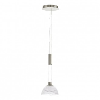EGLO 93466 | Montefio Eglo visilice svjetiljka balansna - ravnotežna, sa visinskim podešavanjem 1x LED 460lm 3000K poniklano mat, bijelo