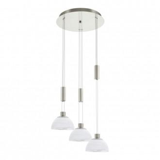 EGLO 93467 | Montefio Eglo visilice svjetiljka balansna - ravnotežna, sa visinskim podešavanjem 3x LED 1380lm 3000K poniklano mat, bijelo
