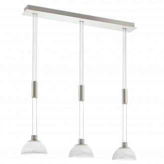 EGLO 93468 | Montefio Eglo visilice svjetiljka balansna - ravnotežna, sa visinskim podešavanjem 3x LED 1380lm 3000K poniklano mat, bijelo