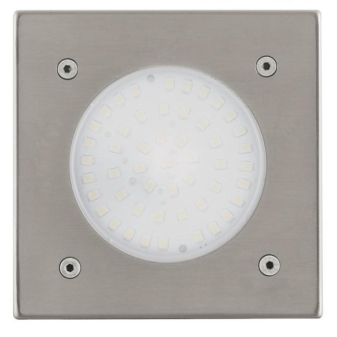 EGLO 93481 | Lamedo Eglo ugradbena svjetiljka 100x100mm 1x LED 180lm 3000K IP67/65 IK09 plemeniti čelik, čelik sivo, opal