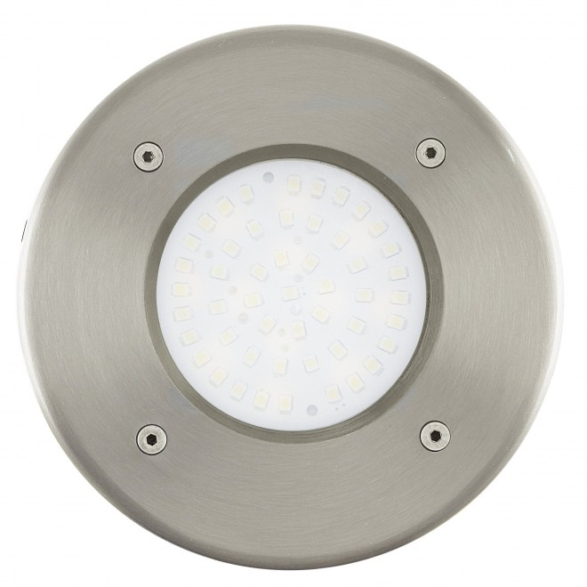 EGLO 93482 | Lamedo Eglo ugradbena svjetiljka Ø102mm 1x LED 180lm 3000K IP67/65 IK09 plemeniti čelik, čelik sivo, opal