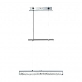 EGLO 93625 | Cardito Eglo visilice svjetiljka sa tiristorski dodirnim prekidačem sa podešavanjem temperature boje, balansna - ravnotežna, sa visinskim podešavanjem 1x LED 2000lm 2700 <-> 5000K krom, prozirna