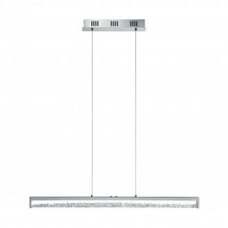EGLO 93626 | Cardito Eglo visilice svjetiljka sa tiristorski dodirnim prekidačem sa podešavanjem temperature boje 1x LED 2500lm 2700 <-> 5000K krom, prozirna