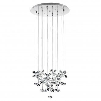 EGLO 93662 | Pianopoli Eglo visilice svjetiljka 15x LED 4050lm 3000K krom, prozirna