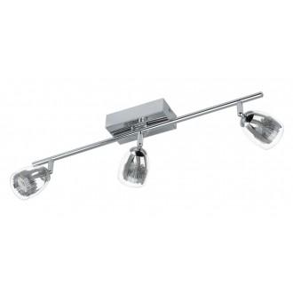 EGLO 93743 | Pecero Eglo zidna, stropne svjetiljke svjetiljka elementi koji se mogu okretati 3x LED 1380lm 3000K krom, prozirno