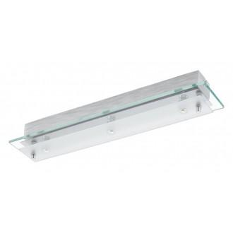 EGLO 93886 | Fres_LED Eglo zidna, stropne svjetiljke svjetiljka 3x LED 1530lm 3000K krom, bijelo, prozirno