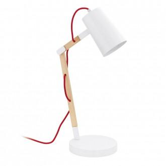 EGLO 94033 | Torona Eglo stolna svjetiljka 54cm sa prekidačem na kablu elementi koji se mogu okretati 1x E27 bezbojno, bijelo, crveno