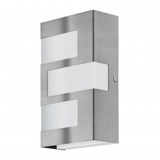 EGLO 94086 | Ralora Eglo zidna svjetiljka 3x LED 540lm 3000K IP44 plemeniti čelik, čelik sivo, bijelo