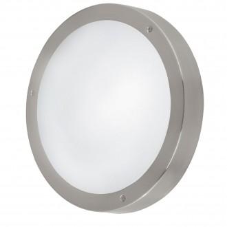 EGLO 94121 | Vento_LED Eglo zidna, stropne svjetiljke svjetiljka 3x LED 540lm 3000K IP44 plemeniti čelik, čelik sivo, bijelo