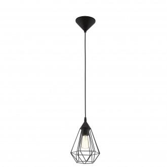 EGLO 94187 | Tarbes Eglo visilice svjetiljka 1x E27 crno