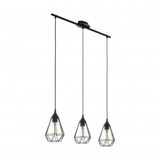 EGLO 94189 | Tarbes Eglo visilice svjetiljka 3x E27 crno