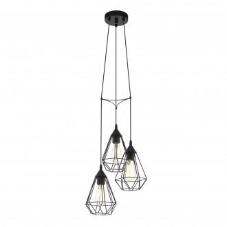 EGLO 94191 | Tarbes Eglo visilice svjetiljka 3x E27 crno