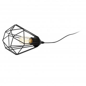 EGLO 94192 | Tarbes Eglo stolna svjetiljka 26,5cm sa prekidačem na kablu 1x E27 crno