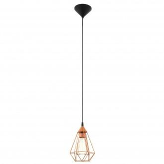 EGLO 94193 | Tarbes Eglo visilice svjetiljka 1x E27 crveni bakar, crno