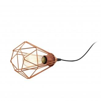 EGLO 94197 | Tarbes Eglo stolna svjetiljka 26,5cm sa prekidačem na kablu 1x E27 crveni bakar, crno