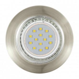 EGLO 94238 | Peneto Eglo ugradbena svjetiljka okrugli trodijelni set Ø78mm 3x GU10 600lm 3000K bronca