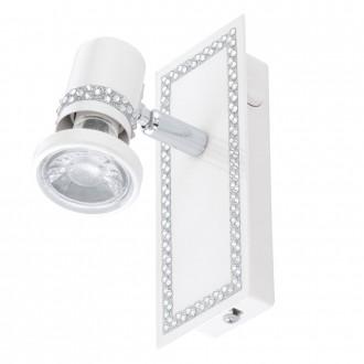 EGLO 94282 | Bonares Eglo spot svjetiljka s prekidačem elementi koji se mogu okretati 1x GU10 240lm 3000K bijelo, krom, prozirna