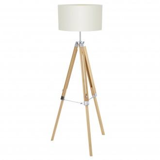 EGLO 94324 | Lantada Eglo podna svjetiljka 106cm sa prekidačem na kablu s podešavanjem visine 1x E27 bezbojno, bež