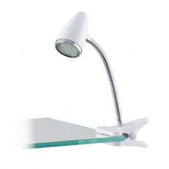 EGLO 94329 | Riccio-1 Eglo svjetiljke sa štipaljkama svjetiljka sa prekidačem na kablu 1x GU10 240lm 3000K srebrno, krom, bijelo